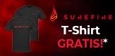 GRATIS T-SHIRT VON SUREFIRE