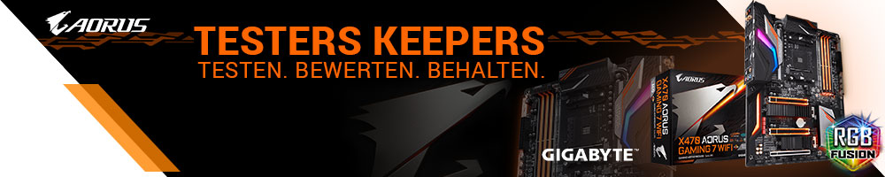 Testers Keepers mit GIGABYTE X470 AORUS Gaming 7 WiFi
