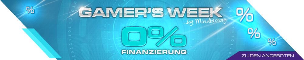 GAMER'S WEEK - NULL PROZENT FINANZIERUNG