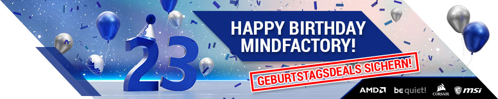Happy Birthday Mindfactory!