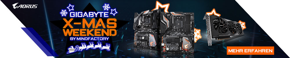 GIGABYTE X-MAS WEEKEND by Mindfactory