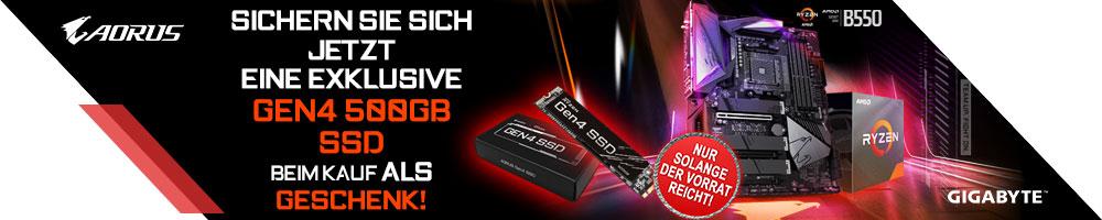 Exklusive GIGABYTE Gen4 500 GB SSD sichern!
