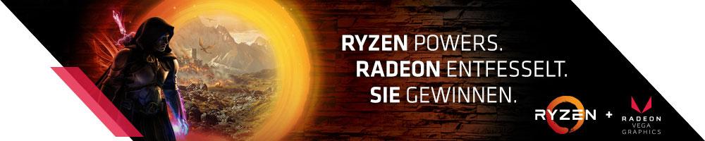 RYZEN™ POWERS. RADEON™ ENTFESSELT. SIE GEWINNEN.