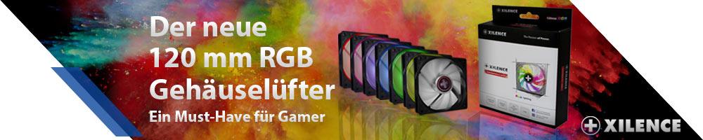 Der neue 120mm RGB Gehäuselüfter