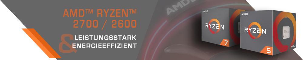 AMD™ Ryzen™ 2700 / 2600