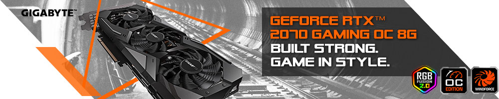 GIGABYTE GeForce RTX 2070 GAMING OC 8GB