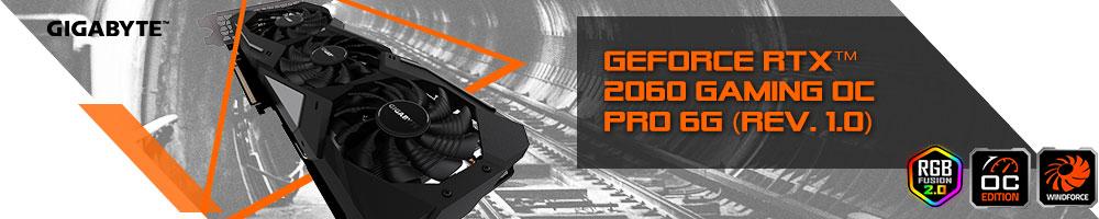 GIGABYTE GeForce® RTX™ 2060 GAMING OC PRO