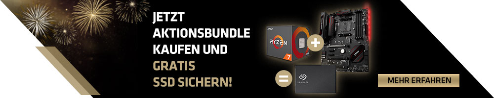 GRATIS SSD mit AMD Ryzen™ 2700X