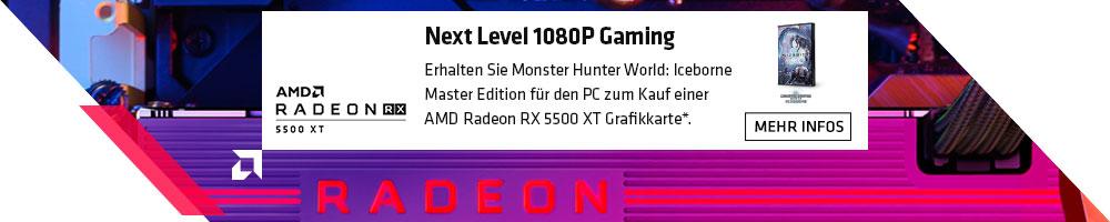 AMD RX 5500 XT Gamebundle. Monster Hunter World