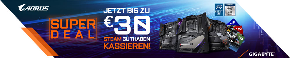 GIGABYTE Z490 Steam Aktion