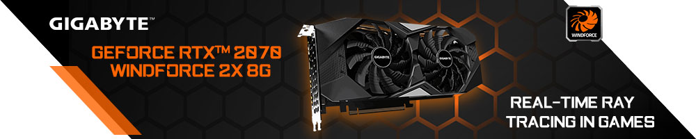 GIGABYTE GeForce® RTX™ 2070 WINDFORCE 2X