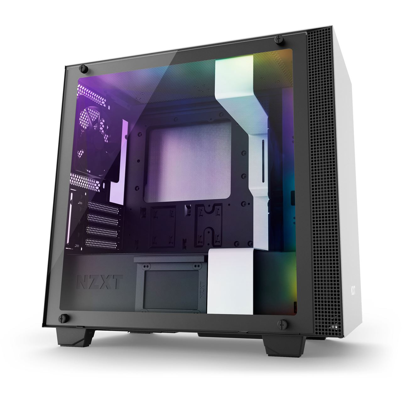nzxt h400i mit sichtfenster mini tower ohne netzteil weiss. Black Bedroom Furniture Sets. Home Design Ideas