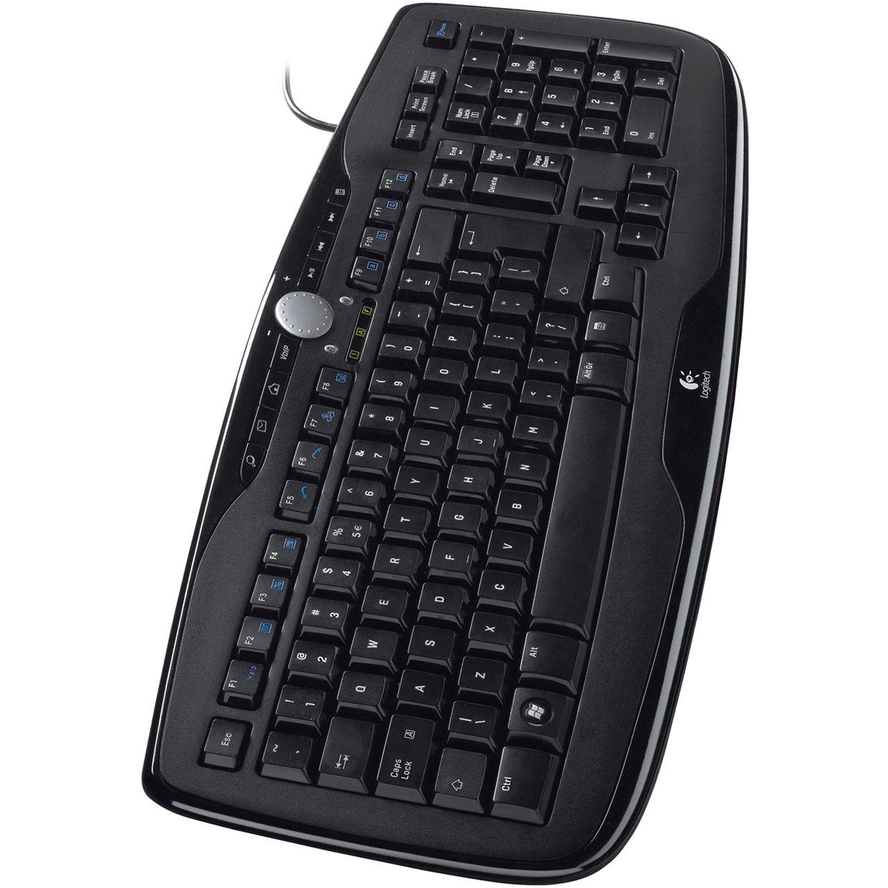 logitech 600 media tastatur schwarz deutsch usb tastaturen kabelgebunden. Black Bedroom Furniture Sets. Home Design Ideas