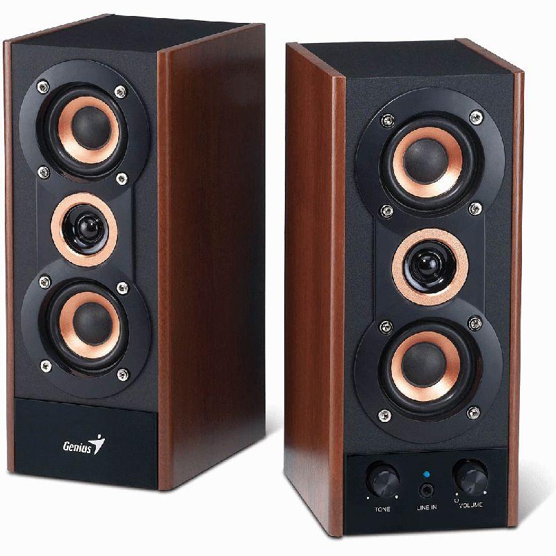 genius sp hf800a 2 0 system 20w rms braun schwarz 2 0 systeme hardware. Black Bedroom Furniture Sets. Home Design Ideas