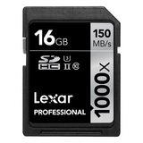 16 GB Lexar Professional SDHC 1000x Class 10 U3 Retail