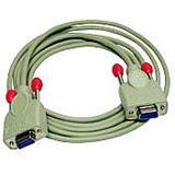 (€2,58*/1m) 5.00m Lindy Nullmodem Verlängerungskabel RS232-Stecker auf RS232-Stecker Weiß