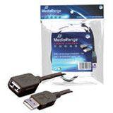 3.00m MediaRange USB2.0 Verlängerungskabel High-Speed USB A Stecker auf USB A Buchse Schwarz vernickelt