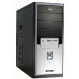 Inter-Tech CA-01 Emotion Black Midi Tower ohne Netzteil schwarz/silber
