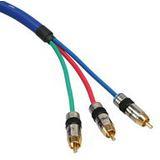 (€7,95*/1m) 2.00m InLine Video Anschlusskabel Premium-Line 3xCinch Stecker auf 3xCinch Stecker Blau RGB / vergoldet