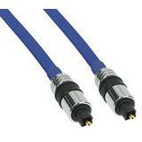 2.00m InLine Audio Anschlusskabel Premium-Line Toslink Stecker auf Toslink Stecker Blau