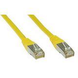 (€1,30*/1m) 3.00m InLine Cat. 5e Patchkabel F/UTP RJ45 Stecker auf RJ45 Stecker Gelb Knickschutzelement