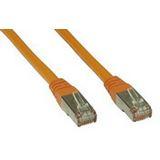 (€3,90*/1m) 1.00m InLine Cat. 6 Patchkabel S/FTP PiMF RJ45 Stecker auf RJ45 Stecker Orange Knickschutzelement