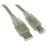(€0,79*/1m) 10.00m InLine USB2.0 Anschlusskabel USB A Stecker auf USB B Stecker Transparent