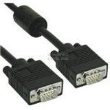 (€3,45*/1m) 2.00m InLine S-VGA Anschlusskabel doppelt geschirmt VGA 15pol Stecker auf VGA 15pol Stecker Schwarz