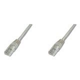 (€0,48*/1m) 25.00m Digitus Cat. 5e Patchkabel UTP RJ45 Stecker auf RJ45 Stecker Grau Knickschutzelement