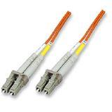 (€2,97*/1m) 3.00m Intellinet LWL Duplex Anschlusskabel 50/125 µm OM2 LC Stecker auf LC Stecker Orange LSOH / Multimode