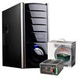 ATX Midi Tronje N-890D Front-USB/Audio schwarz/silber (inkl. 550W)