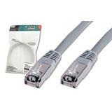 (€0,55*/1m) 20.00m Digitus Cat. 5e Patchkabel FTP RJ45 Stecker auf RJ45 Stecker Grau Knickschutzelement