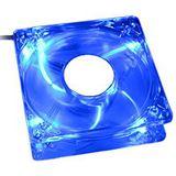 Revoltec Dark Blue 80x80x25mm 2000 U/min 20 dB(A) blau/transparent