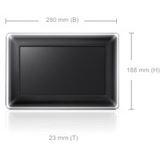 "10,2""(25,91cm) Samsung Digitaler Fotorahmen SPF-107H Wide 1024X600 1024MB Schwarz"