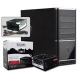 ATX Midi Tronje K-660B schwarz/silber inkl. 760W NT