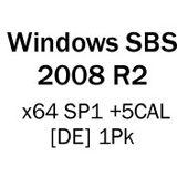 Microsoft Windows Server 2008 R2 Standard SP1 64 Bit Deutsch OEM/DSP/SB inkl. 5 CALs und 1-4 CPUs