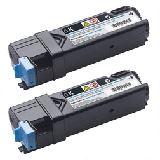 Dell 2150cn/cdn / 2155cn/cdn Tonerkartusche schwarz hohe Kapazität 2er-Pack
