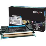 Lexmark Return Program Toner X748H1CG cyan