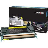 Lexmark Return Program Toner X748H1YG gelb