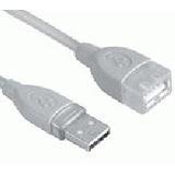 (€2,45*/1m) 2.00m InLine USB2.0 Verlängerungskabel USB A Stecker auf USB A Buchse Transparent