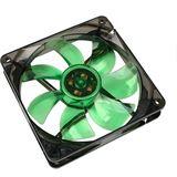 Cooltek Silent Fan 120 120x120x25mm 1200 U/min 16 dB(A) schwarz/grün