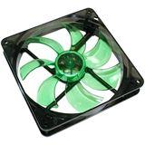 Cooltek Silent Fan 140 140x140x25mm 900 U/min 13.9 dB(A) schwarz/grün