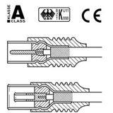 (€2,60*/1m) 1.50m Good Connections Antenne Antennenkabel Premium-Line Koax Stecker auf Koax Buchse Weiß doppelt geschirmt