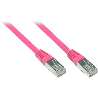 (€0,65*/1m) 7.50m Good Connections Cat. 6 Patchkabel S/FTP PiMF RJ45 Stecker auf RJ45 Stecker Magenta PVC/vergoldet
