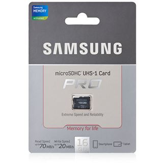 16 GB Samsung Pro microSDHC Class 10 U1 Retail