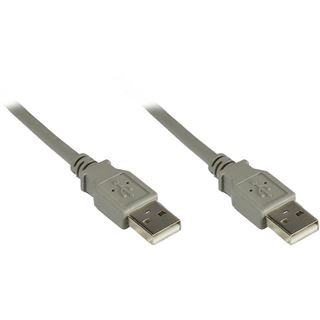 1.50m Good Connections USB2.0 Anschlusskabel USB A Stecker auf USB A Stecker Grau