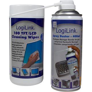(€0,05*/1L) LogiLink Druckluft Universal Reinigungskit 400ml/100 Stück Spraydose (RP0007)