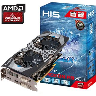 4GB HIS Radeon R9 380 IceQ X2 Aktiv PCIe 3.0 x16 (Retail)