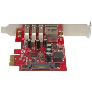 Startech PEXUSB3S3GE 4 Port PCIe retail