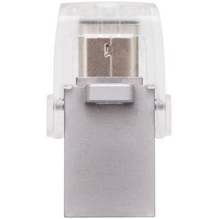 32 GB Kingston DataTraveler microDuo silber USB 3.1 und Typ-C
